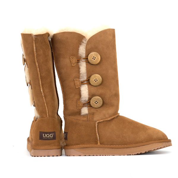 72e76eae204 Three Button UGG Boots Chestnut